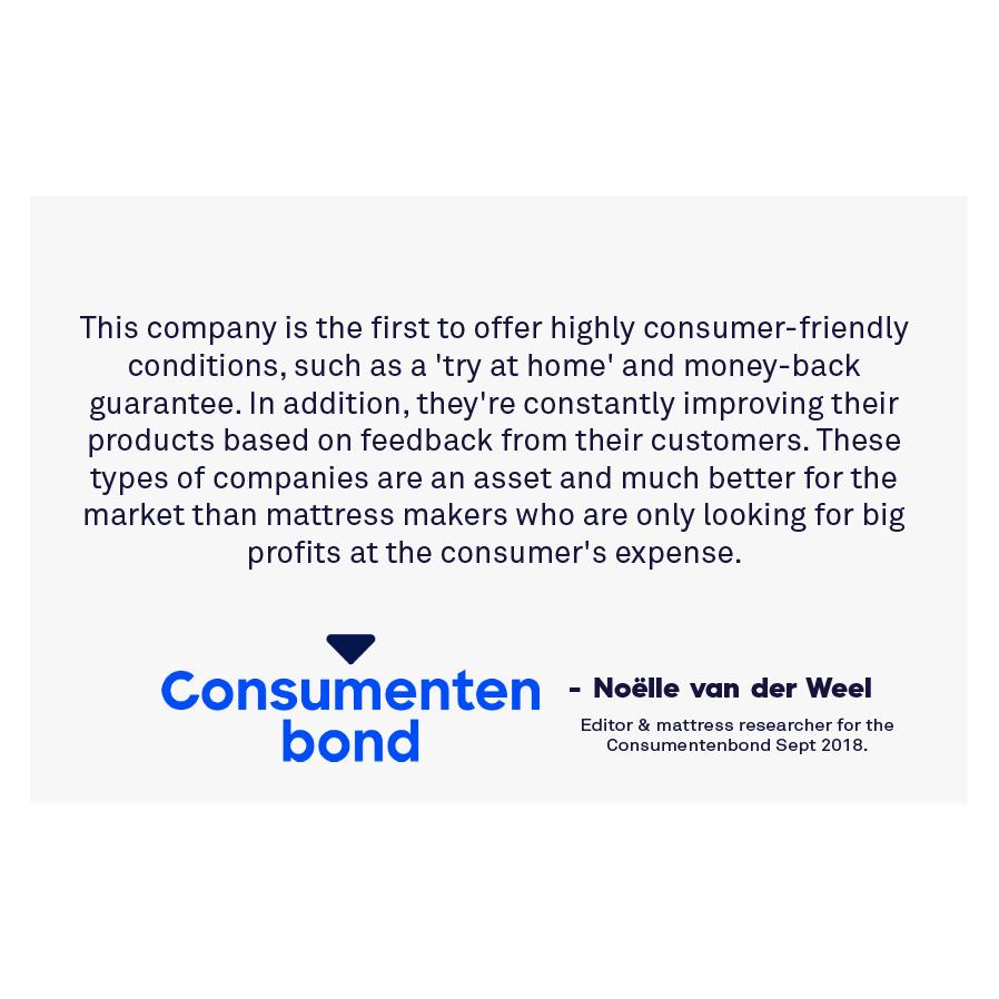 Consumentenbond over het beste matras van Matt